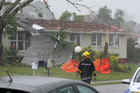Devastation on Wallington Way, Hobsonville this afternoon after a tornado ripped through.  Photo / Chris Gorman