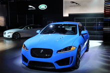 The XKR-S, Jaguar's latest and most powerful sedan, was making its first appearance when it went on show in Los Angeles. Photo / Supplied