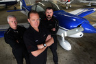 Pilots Richard Hood, (left) Grant Benns and Wayne Ormrod will race at a North Shore air show. Photo / Doug Sherring