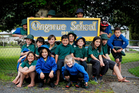 Students from Ongarue Primary School a small town north of Taumarunui. Photo / Christine Cornege
