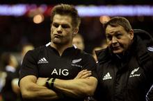 All Black captain Richie McCaw (left) and coach Steve Hansen will be left scowling over their summer holidays. Photo / Getty Images