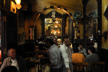 At the El Fishawy cafe in Cairo, more than two centuries old, Egyptians meet with friends to smoke flavoured shisha water pipes. Photo / Supplied