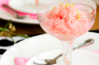 The frozen ices can be made a few days before your party and then left to defrost slightly just before you need them. Photo / Babiche Martens 