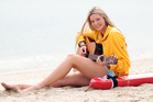 Surf Lifesaving ambassador Jamie McDell. Photo / Doug Sherring