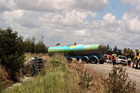 A tanker driver died at Ruawai yesterday.