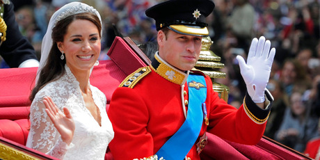Prince William and his bride Kate, Duchess of Cambridge, leave Westminster Abbey, London, following their wedding.Photo / AP