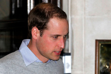 Prince William leaves the King Edward VII hospital where his wife Kate, the Duchess of Cambridge has been admitted with a severe morning sickness.Photo / AP