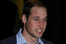 Prince William leaves the London hospital where his wife is being treated for morning sickness.Photo / AP 