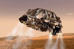 Landing the rovers on Mars has been quite a feat. Photo / AP