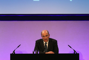 Britain's Lord Justice Brian Leveson delivers a statement following the release of the Leveson Inquiry report.  Photo / AP