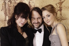 Fran Walsh (left) with Peter Jackson and Saoirse Ronan, star of The Lovely Bones which Walsh co-wrote and produced. Jackson directed. Photo / Supplied