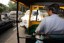 Hyderabad's tuk-tuk drivers, or auto-wallahs, navigate the busy city streets with panache. Photo / Brett Phibbs