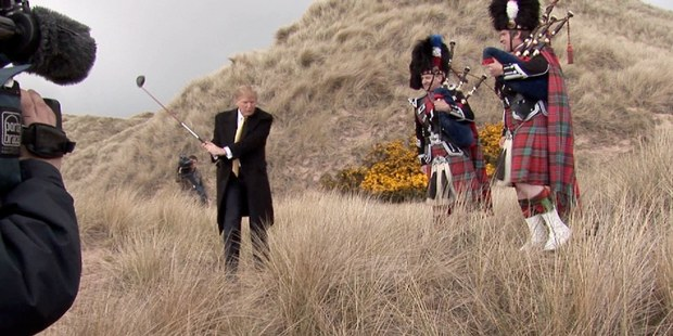 Anthony Baxter follows tycoon Donald Trump as he tries to establish a resort in Scotland. Photo / Supplied