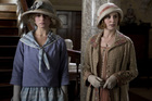A modern lady Rose (left) arrives. while romance blooms for Lady Edith. Photo / Supplied