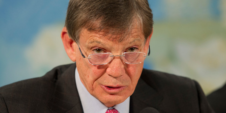 Reserve Bank Governor Graeme Wheeler has refuted the Greens' claim the central bank is biased towards Australian-owned banks. Photo / Mark Mitchell