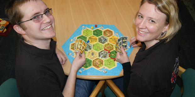David and Angela Taylor - founder of Board Games by the Bay. Photo / Bay of Plenty Times