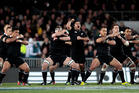 All Blacks perform the Haka. Photo / Richard Robinson.
