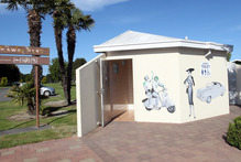 The Maadi Road toilet block in Onekawa, Napier, which was the scene of an alleged indecent assault. Photo / Paul Taylor