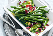 Green bean, sugar snap pea and cranberry salad. Photo / Benjamin Dearnley