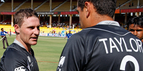 Brendon McCullum (L) and Ross Taylor. Photo / Getty Images.