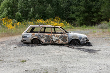 This 1989 silver Subaru station wagon was found burnt-out and with a body inside yesterday afternoon. Photo / supplied