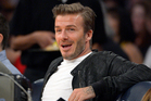 David Beckham at a Los Angeles Lakers game. Photo/AP
