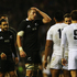 Piri Weepu and Luke Romano of New Zealand show their dejection after defeat during the QBE International match between England and New Zealand. Photo / Getty Images.