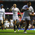 Manu Tuilagi of England celebrates his try during the QBE International match between England and New Zealand. Photo / Getty Images.