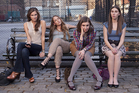 Girls stars Allison Williams, Jemima Kirke, Lena Dunham, and Zosia Mamet.