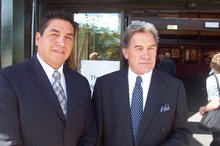 MP Brendan Horan (left) with NZ First leader Winston Peters. Photo / Facebook