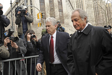Bernard Madoff (right) was brought to justice after the investigation of investigator Harry Markopolos. Photo / AP
