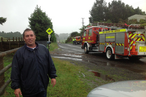 Chris Heywood was lifted up in a tornado in Rotorua yesterday. Photo / The Daily Post