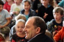 Labour party leader David Shearer, visit Nelson Park School in Napier. Photo / Paul Taylor