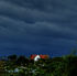 Taken from Birkenhead looking west just prior to the storm hitting. Photo / Stuart Russell