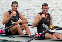 Gold medallists Joseph Sullivan and Nathan Cohen. Photo / Brett Phibbs