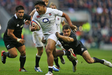 Manu Tuilagi was their standout at centre with one clean linebreak that evaded three tacklers to set up Bradley Barrett's try. Photo / Getty Images