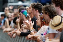 Crowds at St Jerome's Laneway Festival 2011 at Aotea Square, Auckland. Photo / Richard Robinson