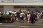 The domestic terminal at Auckland Airport was evacuated due to an apparent false alarm this afternoon. Photo / Mike Penhall/Twitter