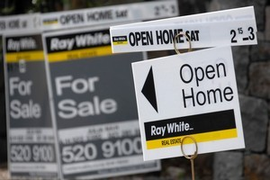 The real estate market has dried up, holding prices up. Picture / Bloomberg News