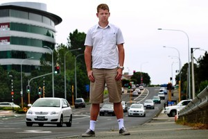 Jamie Roberts, an ex-pat from the UK, is appalled at the standard of driving in New Zealand. Picture / Steven McNicholl
