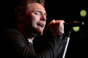 Ronan Keating croons his tunes at Vector Arena. Photo / Natalie Slade