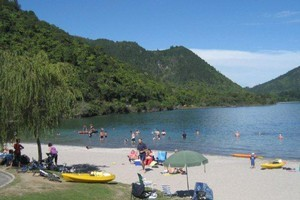 Lake Tikitapu is a major drawcard for the Blue Lake Top 10 Holiday Park. Photo / Supplied