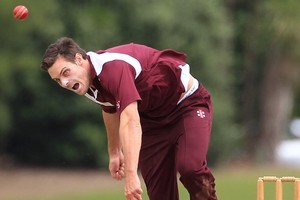 Howick's Mitchell McClenaghan knows he can bowl faster than 140km/h. Photo / Greg Bowker.