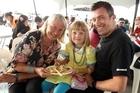 The Blackburn family enjoyed the Seafood Festival. Photo / Janna Dixon
