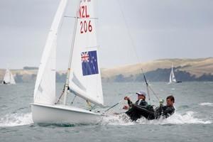 Kiwi crew James Turner and Finn Drummond. Photo / Richard Robinson