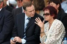 Prime Minister John Key finds Titiwhai Harawira is a vital part of Waitangi Day. Photo / Brett Phibbs