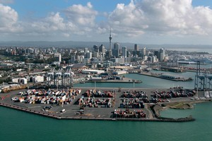 Ports of Auckland to downtown Auckland City. Photo / Brett Phibbs