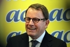 Act MP John Banks is determined to make headway as Associate Education Minister. Photo / Janna Dixon