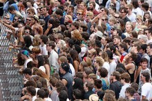 Crowds at the Laneway Festival. Photo / Richard Robinson