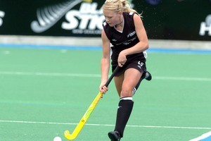 New Zealand's Charlotte Harrison saw the bright side in their loss to Germany. Photo / NZPA file